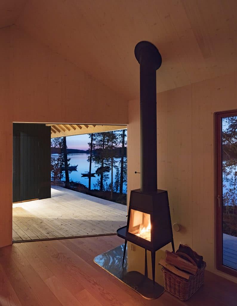 Sauna ja vierasmaja sisänäkymä
