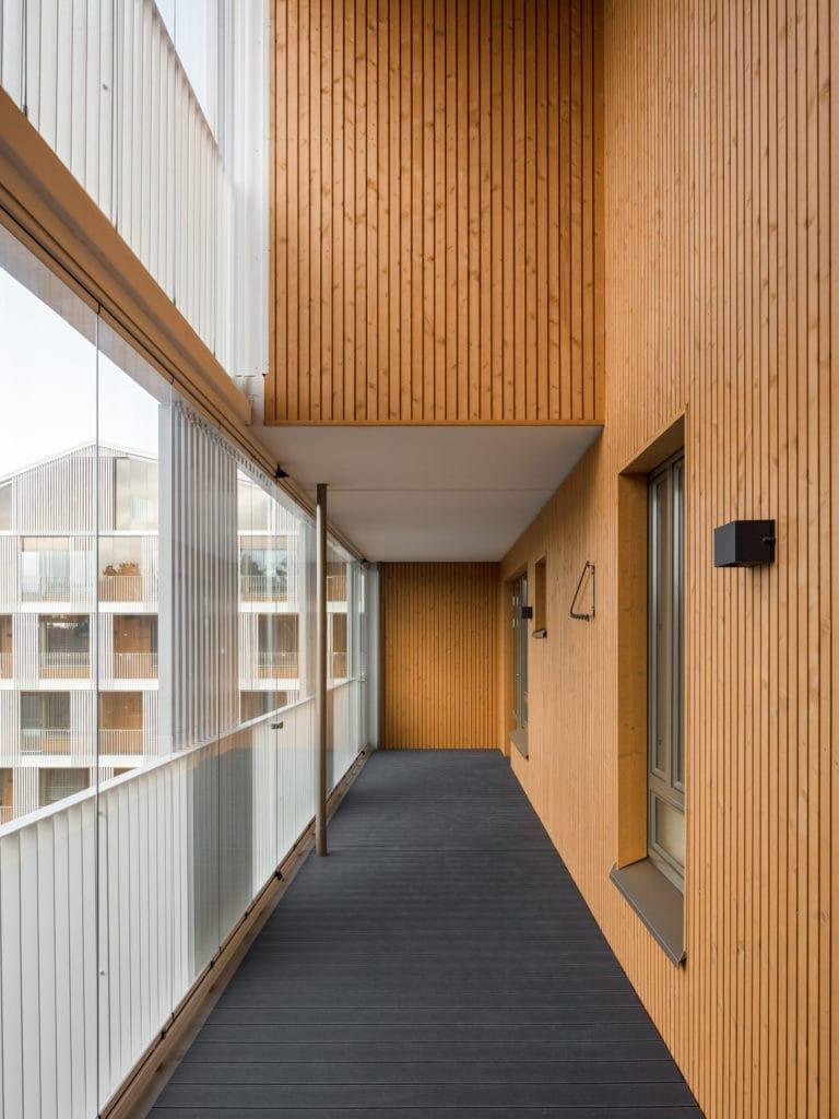 Asuinkerrostalo Käpylän Posteljooni sisänäkymä