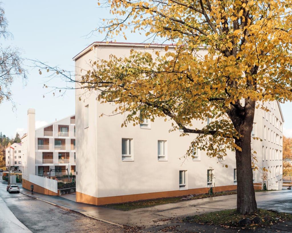 Asuinkerrostalo Käpylän Posteljooni ulkonäkymä
