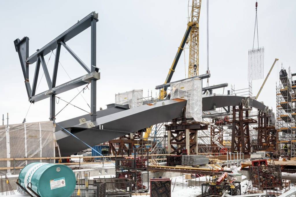 Helsingin keskustakirjasto Oodi rakennustyömaa