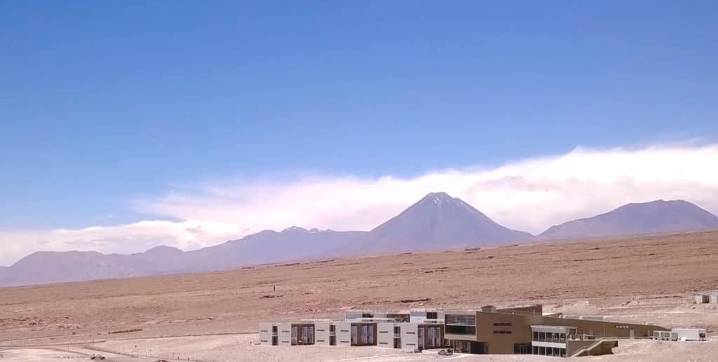 ALMA Atacana-tutkijahotelli ulkonäkymä
