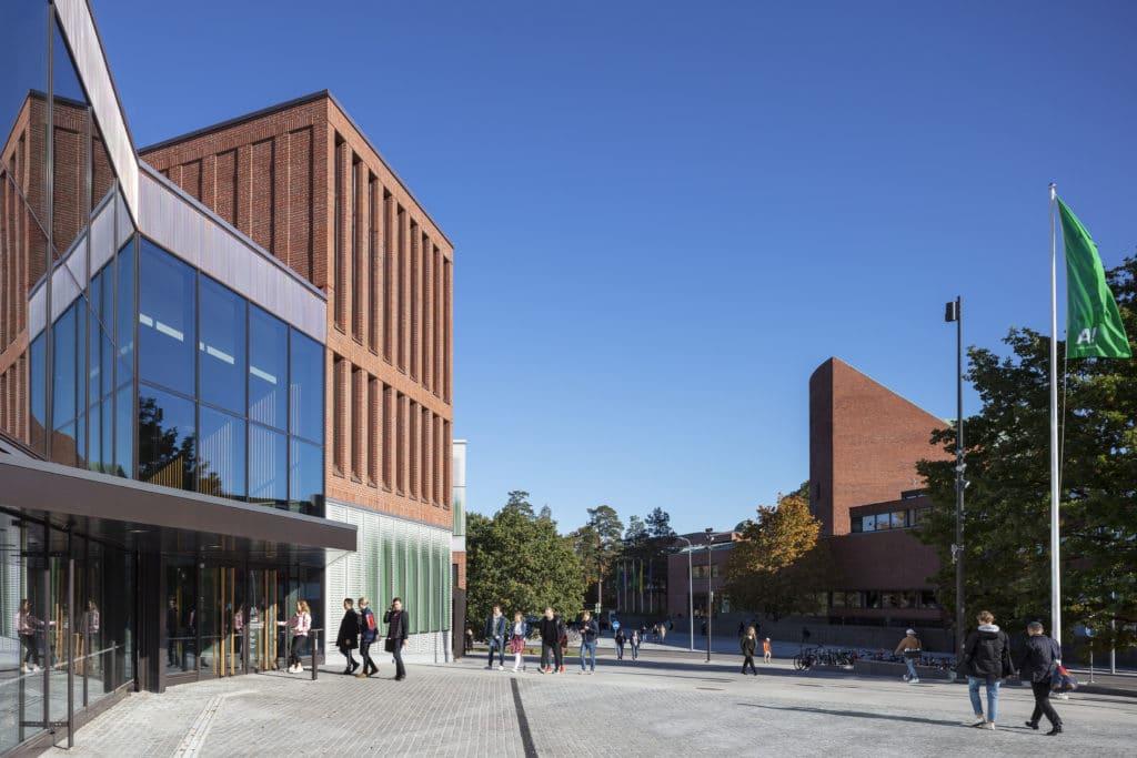 Väre, Aalto-yliopiston taiteiden ja suunnittelun korkeakoulu ulkonäkymä
