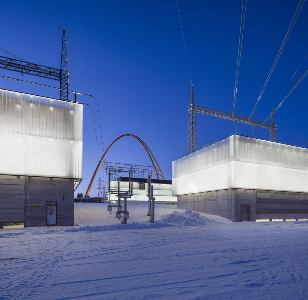 Länsisalmen sähköasema ulkonäkymä