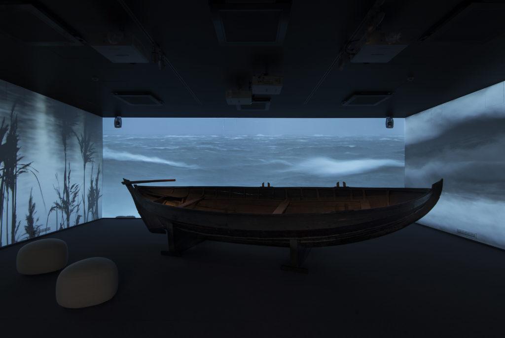 Ålands kulturhistoriska museum sisänäkymä