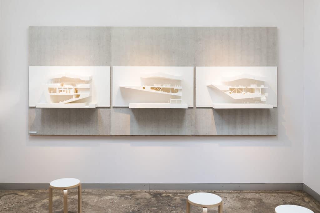 Mind-Building, Suomen paviljongin näyttely Venetsian arkkitehtuuribiennaalissa, Oodi-kirjaston leikkausmalleja