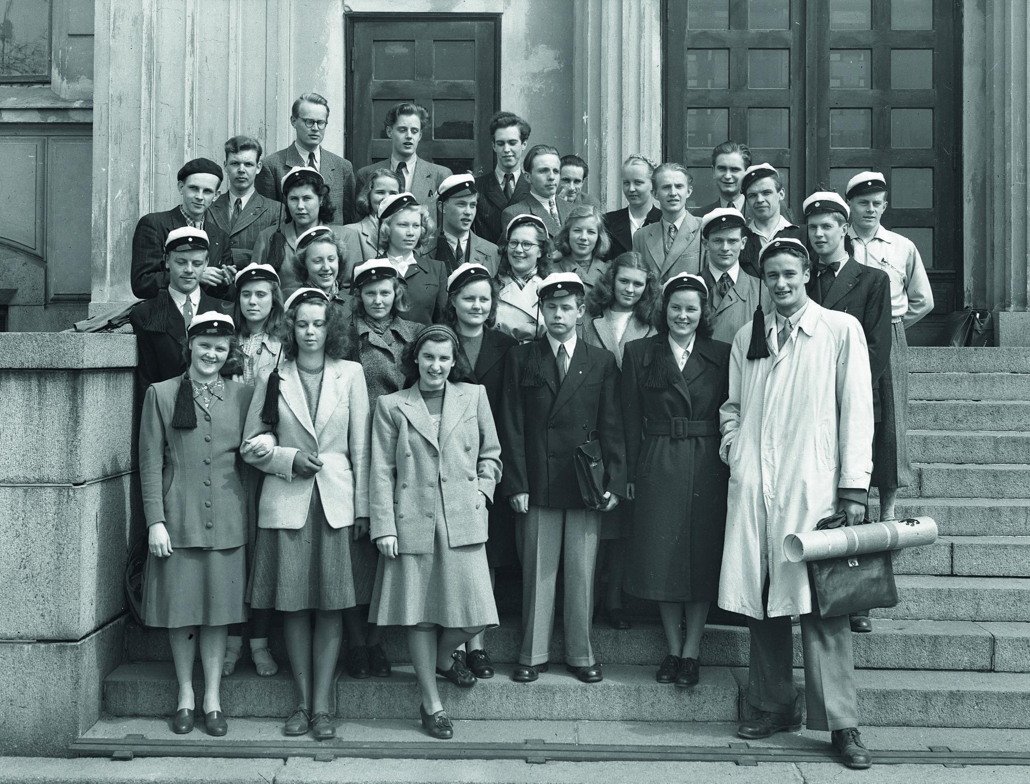 Arkkitehtikurssin opiskelijat 1947