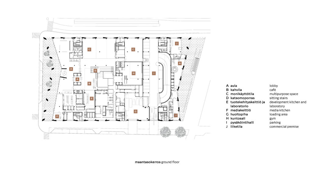 Pohjapiirros, maantasokerros / Plan, ground floor